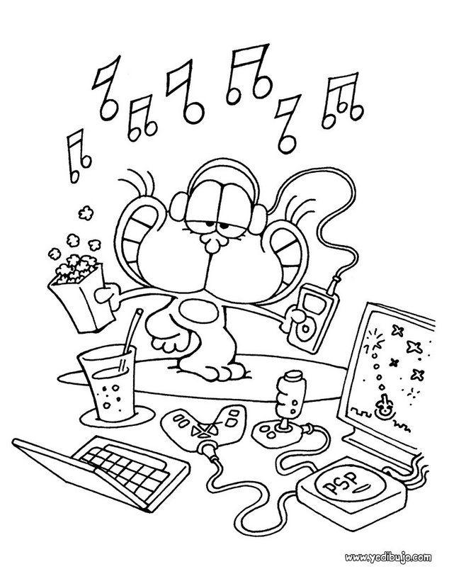 dibujos-para-colorear-gaturro-musica_kfh.jpg (634×820)   Cuaderno ...