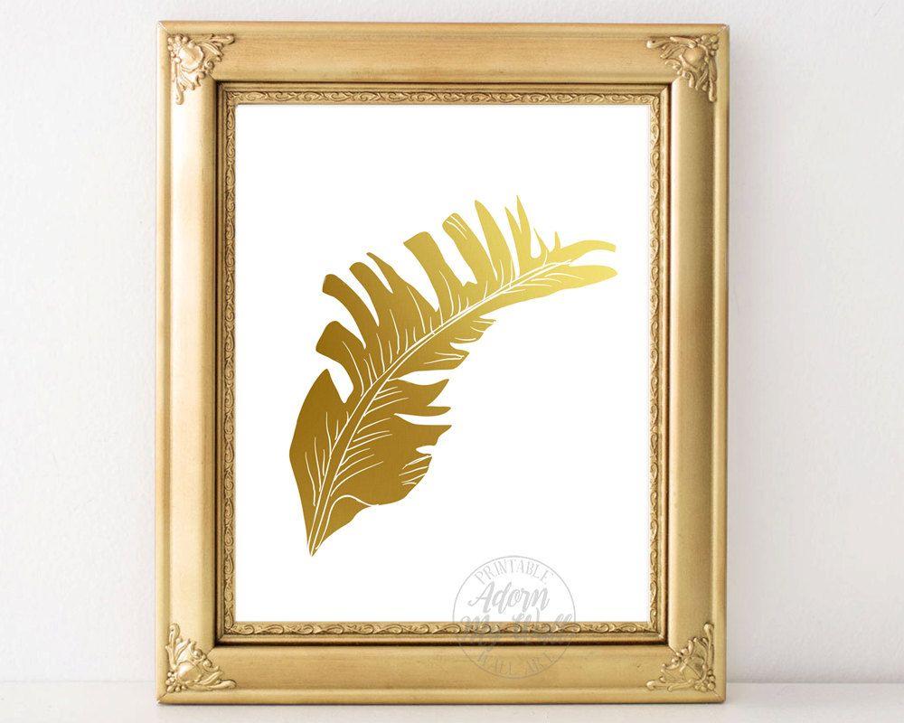 Banana leaf print, botanical print, tropical print, wall art ...