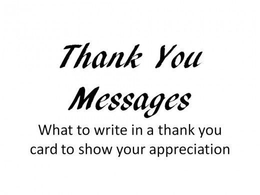 Thank You Messages To Write In A Card Appreciation Messages And