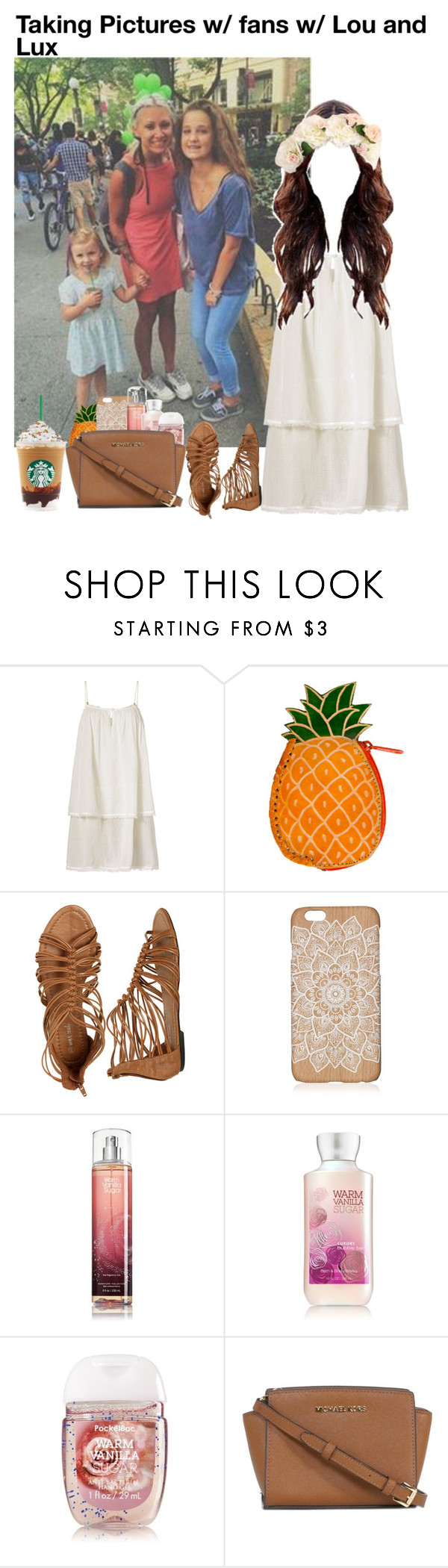 """""""Taking Pictures w/ fans w/ Lou and Lux"""" by grace-food-lover ❤ liked on Polyvore featuring Heidi Klein, Wet Seal and Michael Kors"""