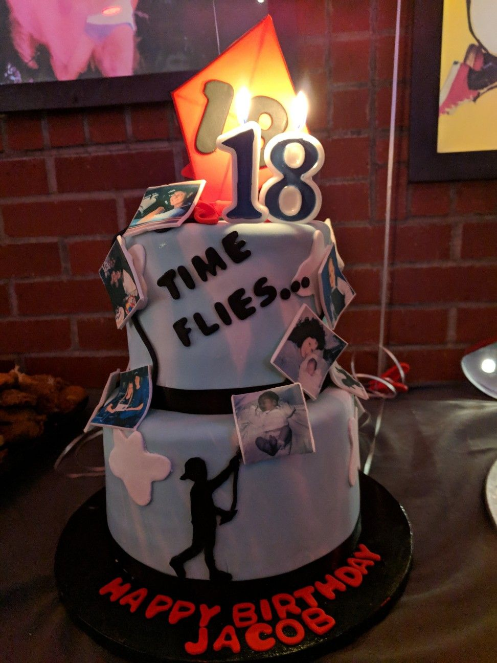 My Sons 18th Birthday Cake Theme How Time Flies 18th Birthday Cake 18th Birthday Birthday Cake
