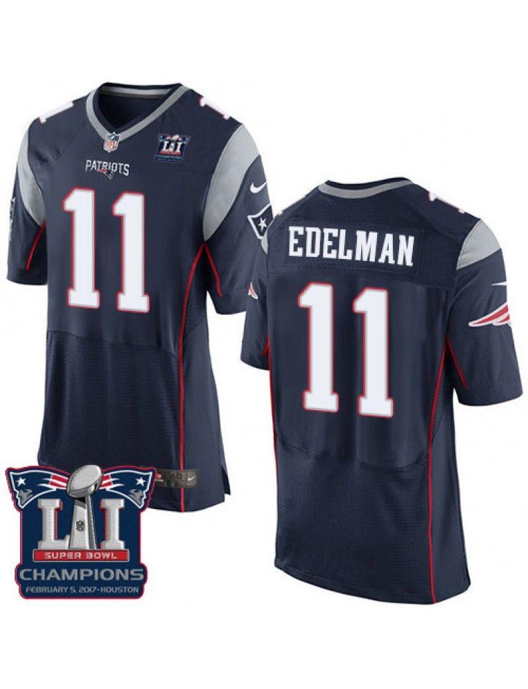 release date: 978bc 69d9a New England Patriots Nike Men's #11 Julian Edelman Elite ...