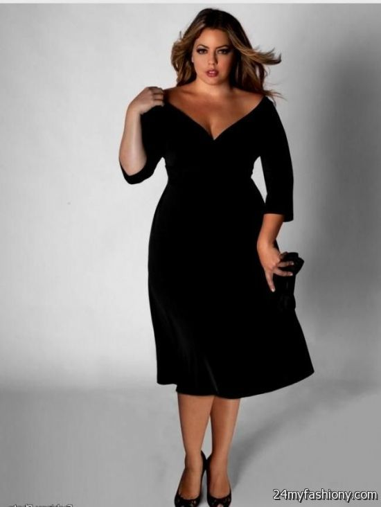 Black Semi Formal Dresses Plus Size 2016 2017