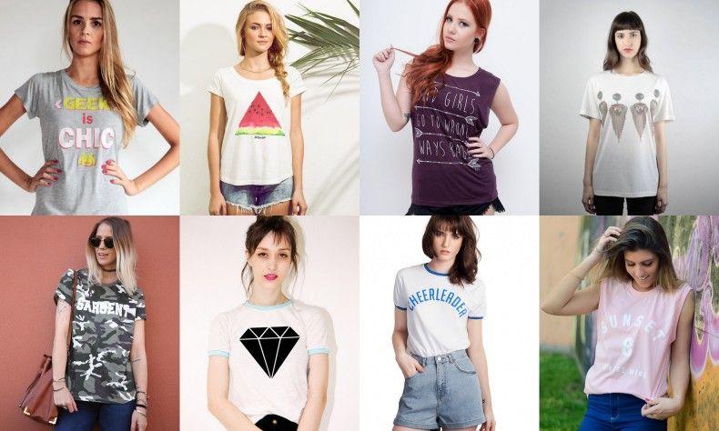 8337eb767 Onde comprar t-shirts femininas estilosas