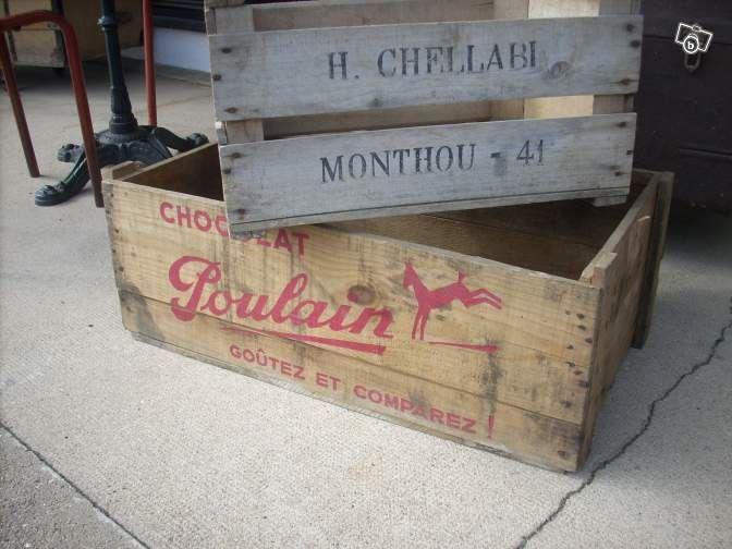 caisse en bois d epicerie chocolat poulain décoration cher