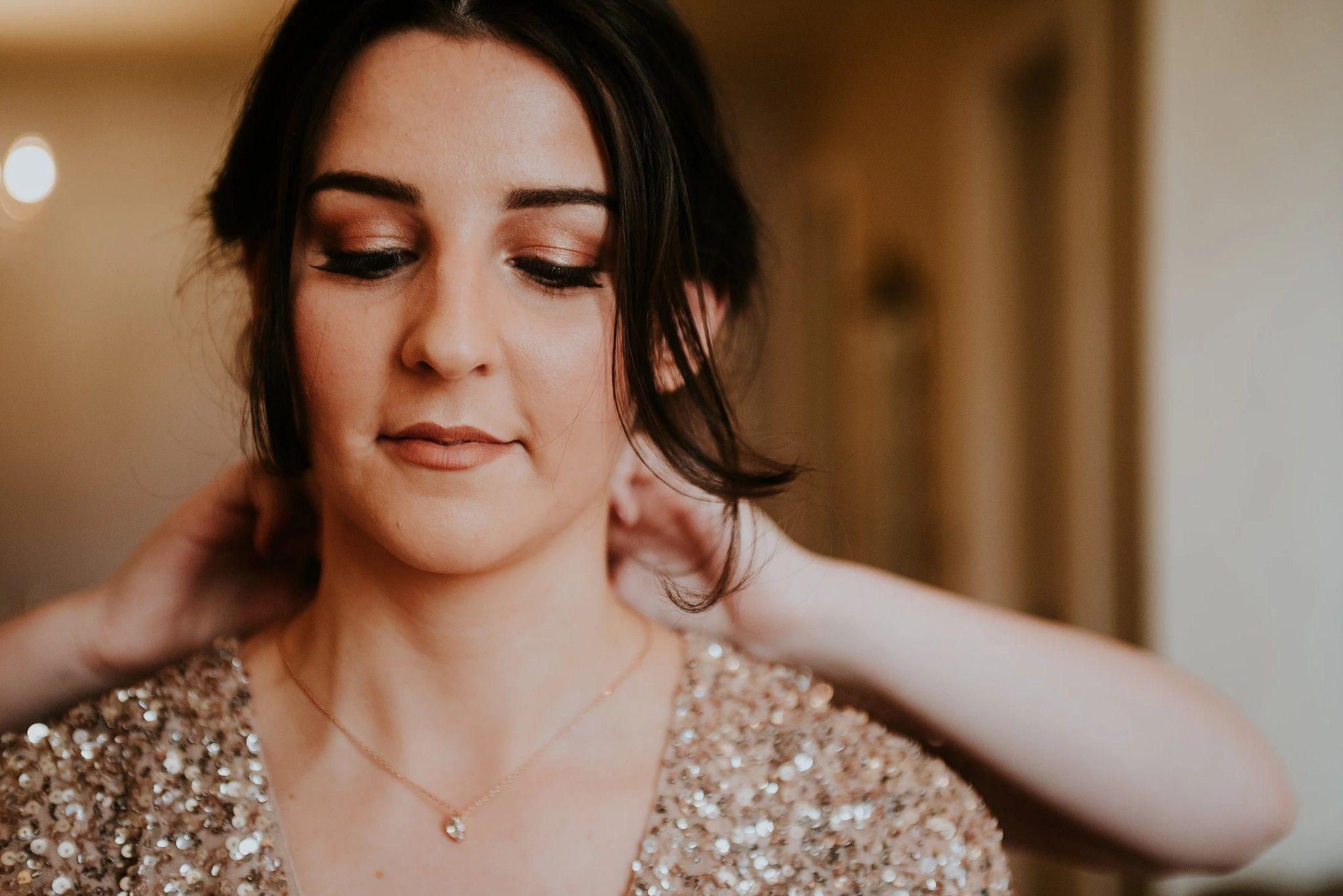 Rose gold bridesmaids wedding makeup by Glamorama Makeup
