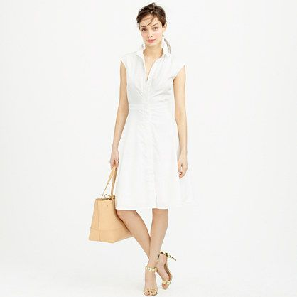 J.Crew - Cap-sleeve shirtdress with tuxedo bib- packing for europe
