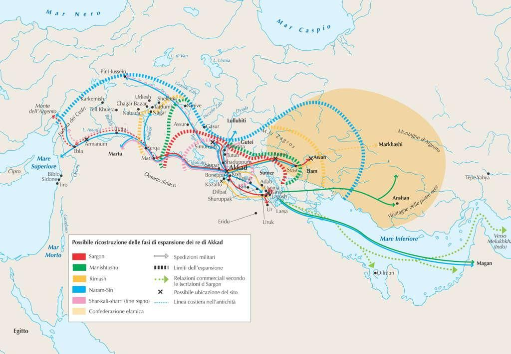 Expansion of the Akkadian Empire (2334 2154 BC) | MAPS | Map