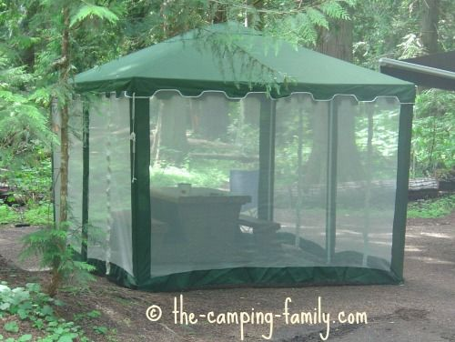 Green Screen Tent With Straight Walls Screened In Areas