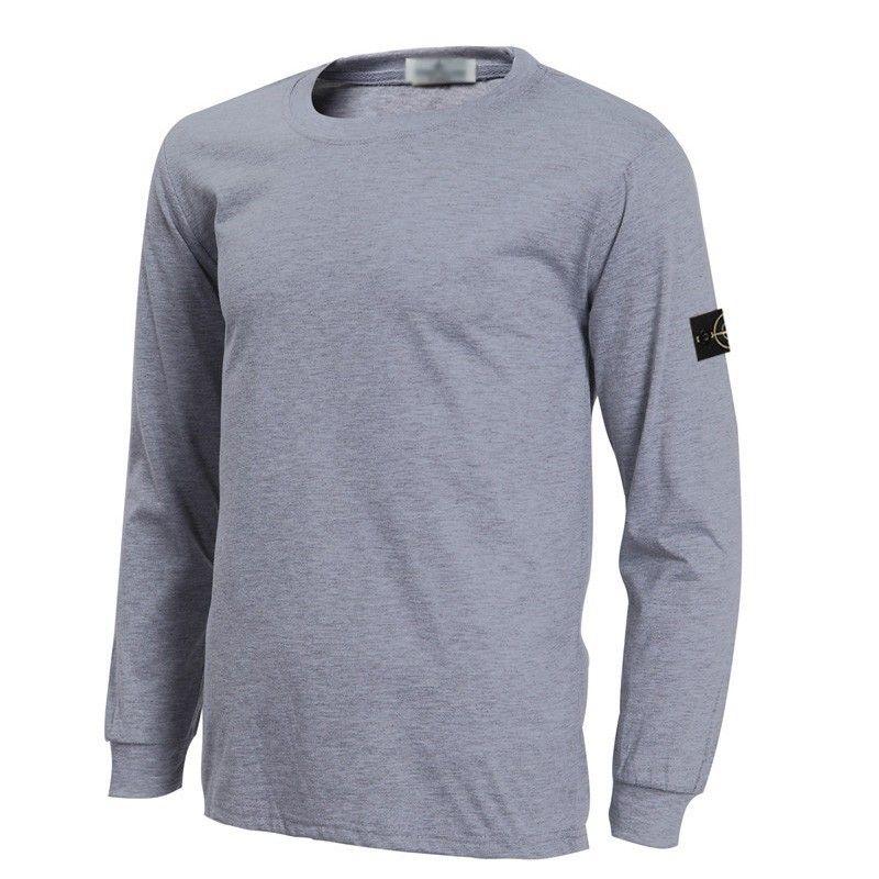 Stone Island Long Sleeve Tinto Capo T Shirt Gray Shirts Grey Stone Island Jacket Shirts