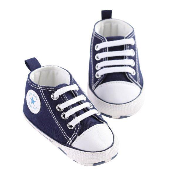 zapatillas tipo converse azul
