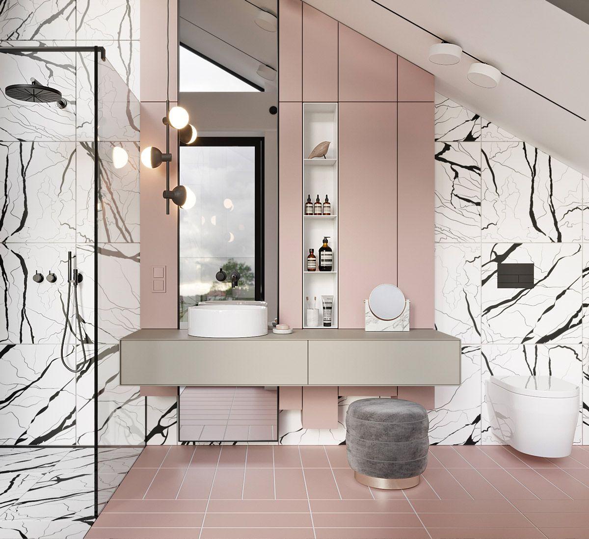 Ideen Moderne Badezimmer Mit Fliesen Stil