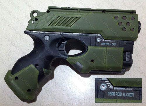 Battlestar Galactica blaster homage to Admiral Helena Cain using the Nerf  Scout pistol. BSG!