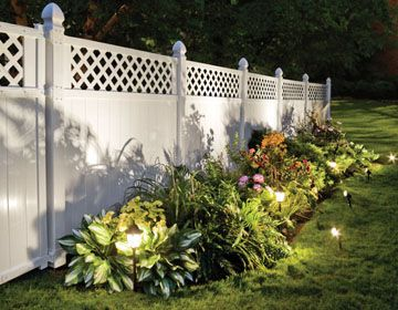 White 6 Fence Google Search White Vinyl Fence Vinyl Fence Landscaping Vinyl Fence