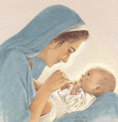 Mary Mother Of Jesus - This a beautiful pic of a young new mother with her Son. It shows humanity and true love.
