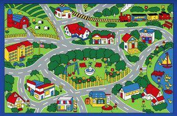 City Map Children Area Rug 39 X58 Spectrumrug Http Www