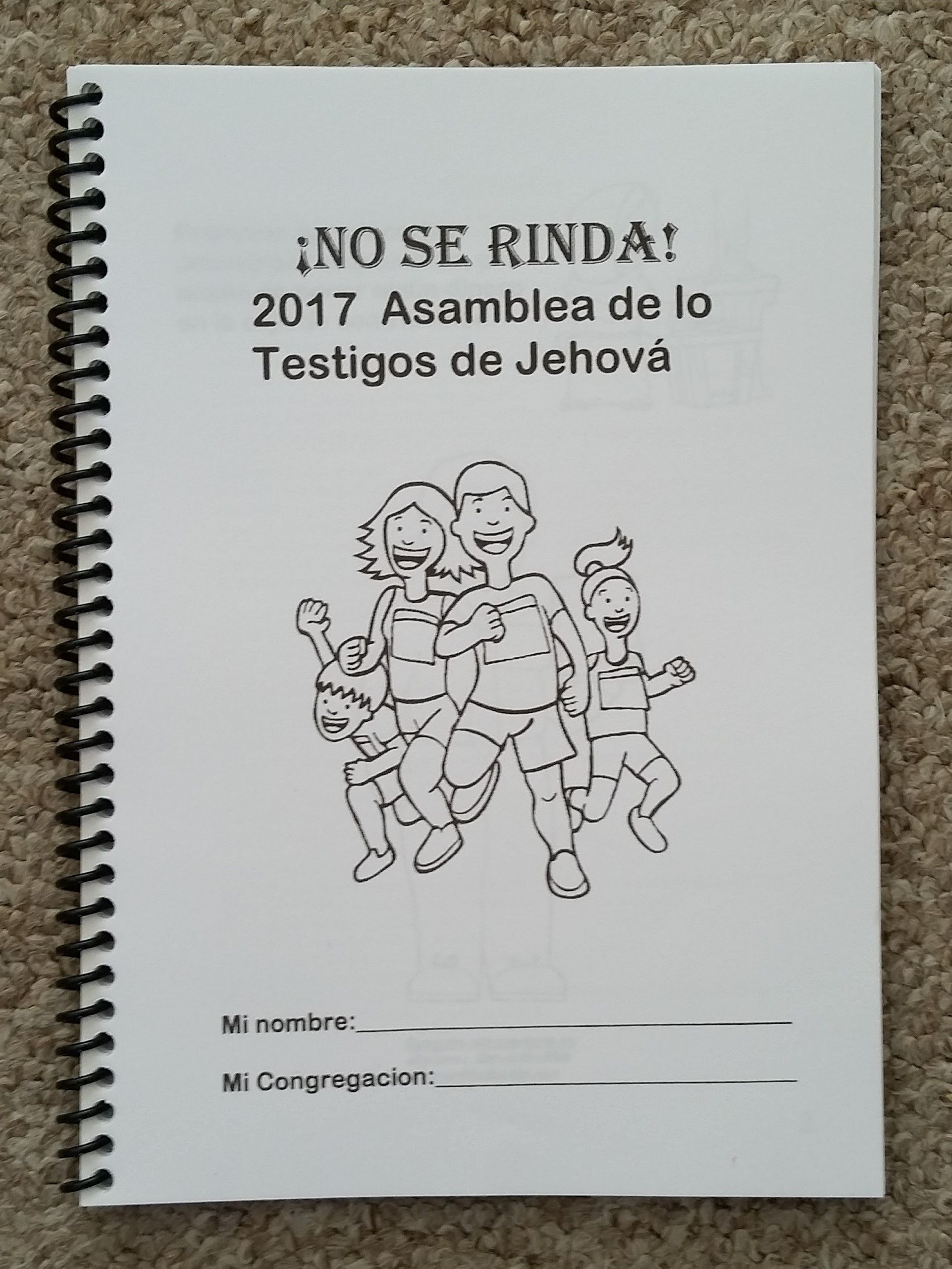Spanish Jw Regional Convention No Se Rinda Asamblea Notebook For Teens And Adults Espanol
