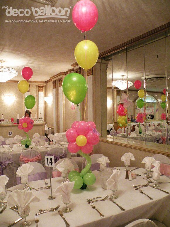 Balloon Centerpices centros de mesa Pinterest Globo, Centros