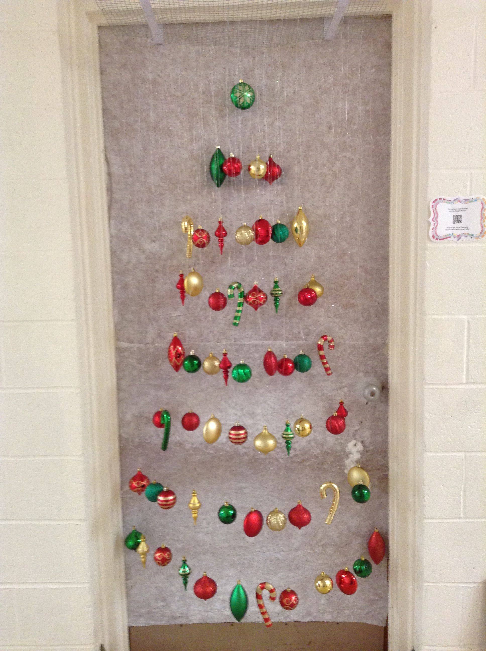 My Christmas door decoration for 2013 I
