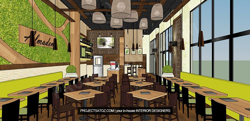 Brown And Green Color Scheme Restaurant Design Green Color