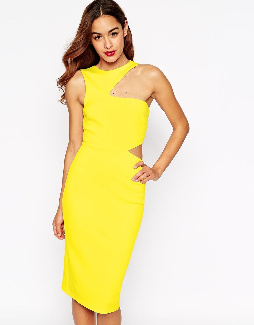 ASOS Cut Out Asymmetric Bodycon Dress | THIS DRESS WILL HAVE TO DO ...