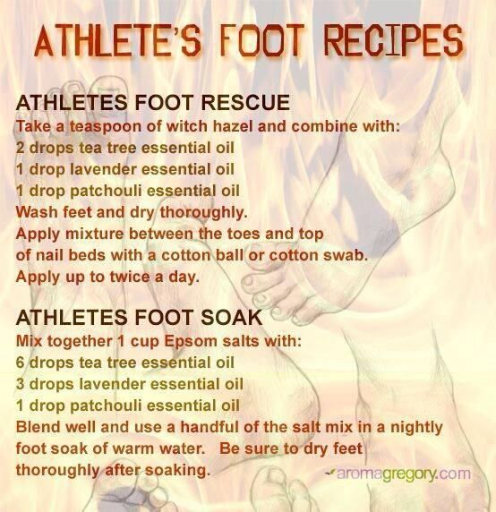 protocol for athletes foot with doTERRA Essential Oils purchase at
