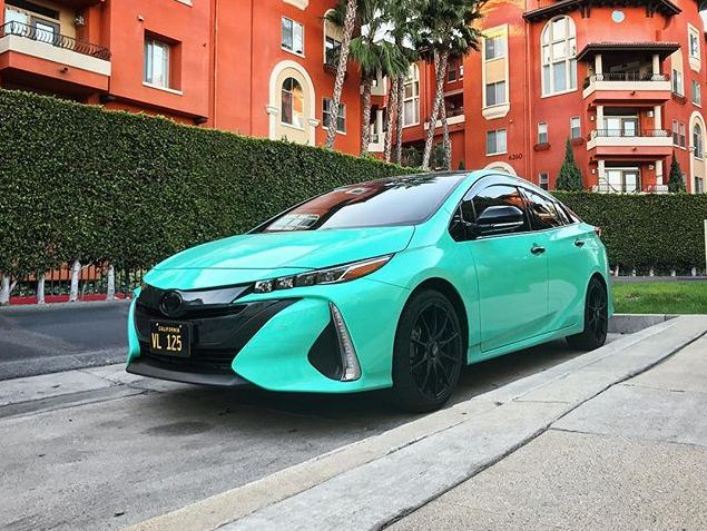 2019 Vvivid Gloss Miami Teal Vinyl Wrap Car Tiffany Blue Car