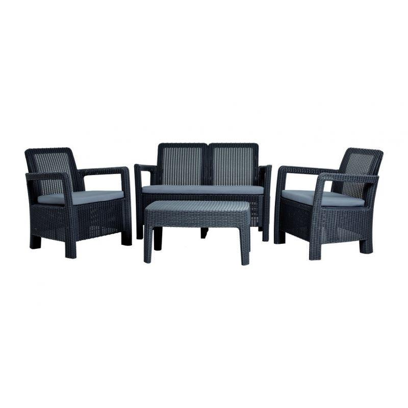Conjunto ratan resina tarifa lounge set antracita   Keter   Ideas de ...