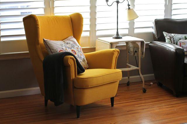 IKEA Strandmon Wing Chair, Skiftebo Yellow