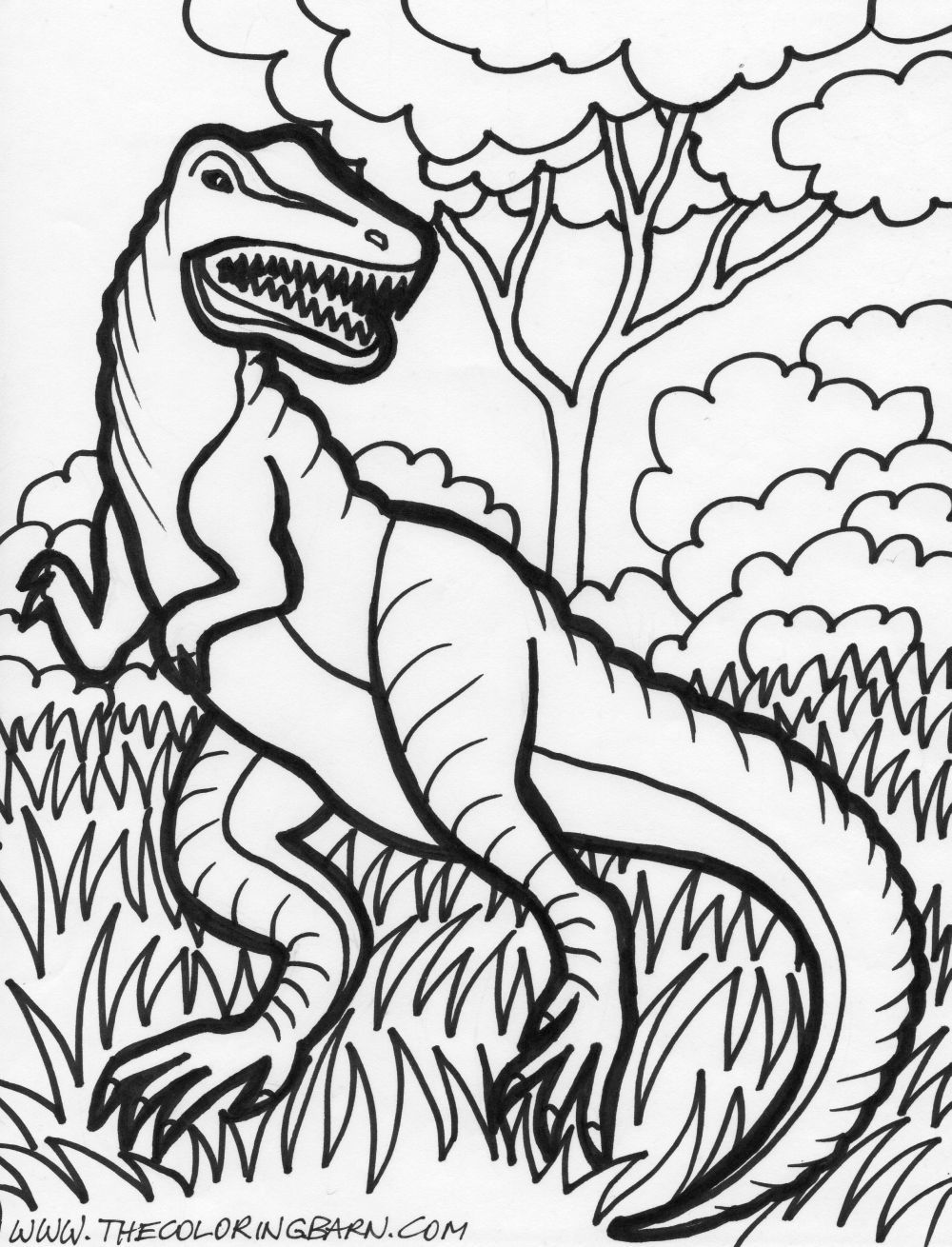 velociraptor Dinosaur coloring pages, Animal coloring