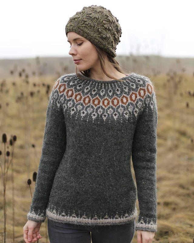 8cc2d4edc Telja knit in Lett Lopi in Rough Sea by Jenn Steingass