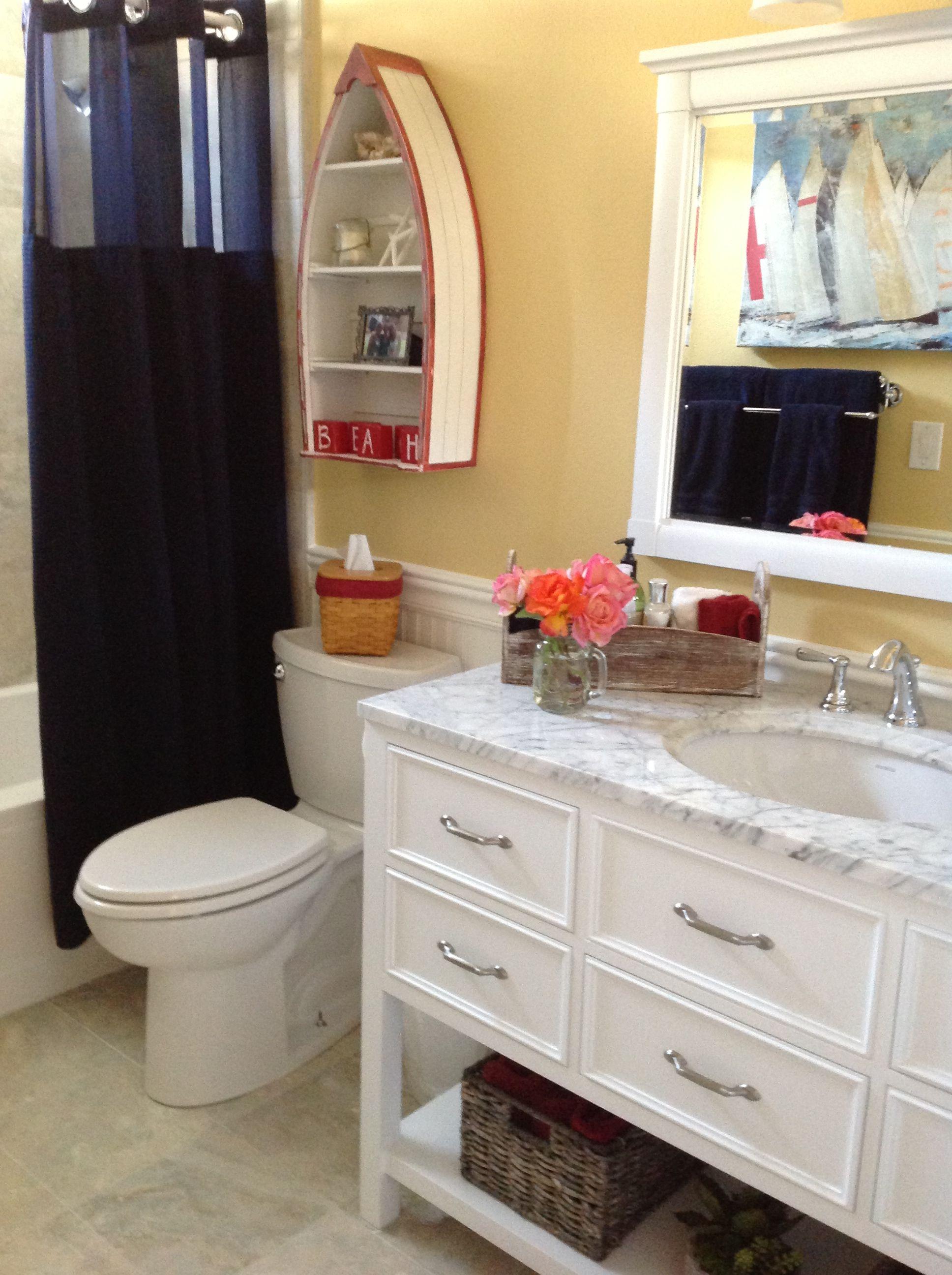 Nautical Bathroom I Love My New Vanity Nautical Bathrooms Boat Shelf Nautical Home