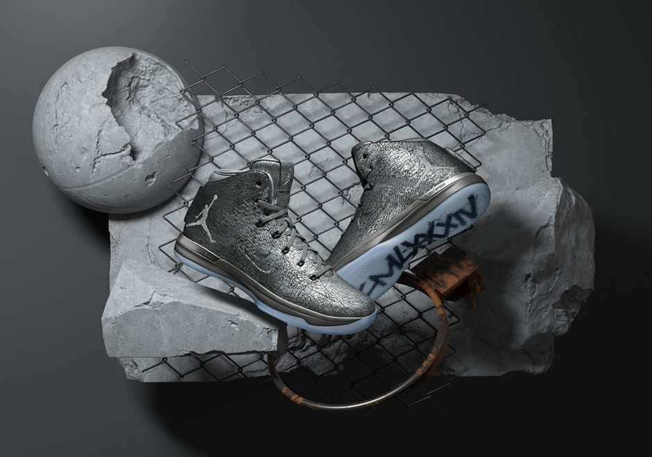 """235c5ddd863b98  sneakers  news The Air Jordan 31 """"Battle Grey"""" Drops Flyweave For Cracked  Leather"""