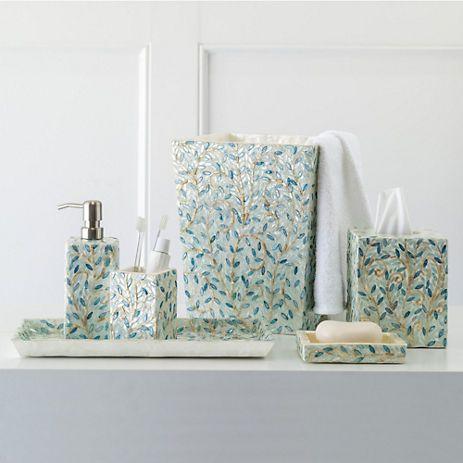 Soro Capiz Shell Bath Accessories