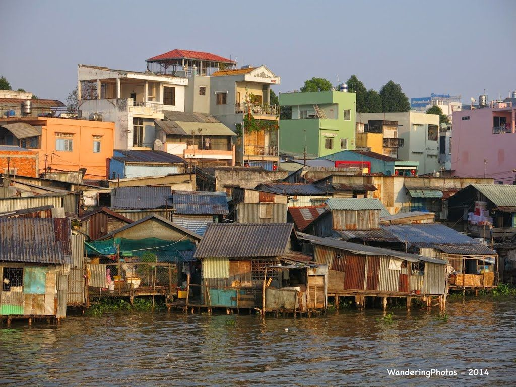 Stilt Houses On The Banks Of The Bassac River Can Tho Mekong Delta Vietnam 이미지 포함