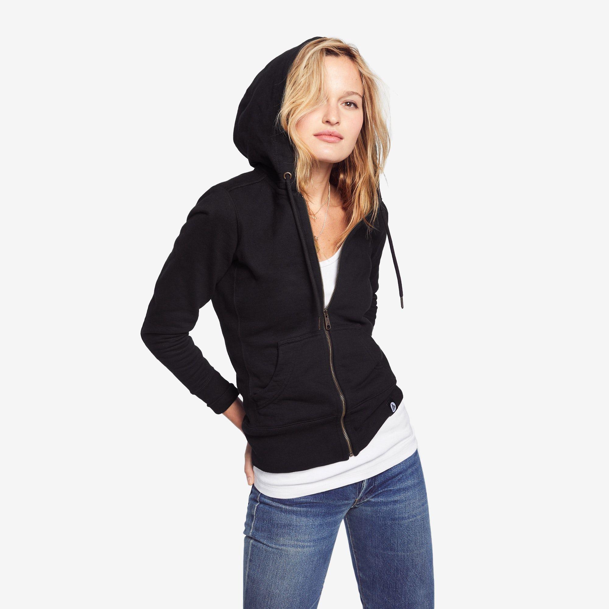 Classic Full Zip Black Full zip hoodie, Zip hoodie