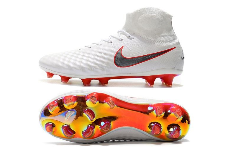 buy online 66b90 56eac Nike Magista Obra II FG Men Soccer Boots White Grey Red