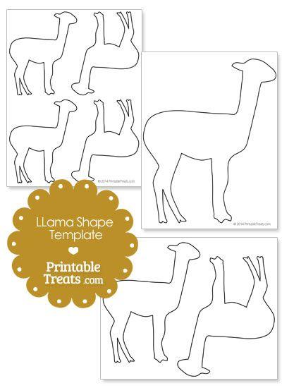 printable llama shape template from printabletreats com shapes and