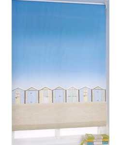 Beach Hut 3ft Roller Blind Multicoloured Beach Hut Nautical Bathrooms Roller Blinds