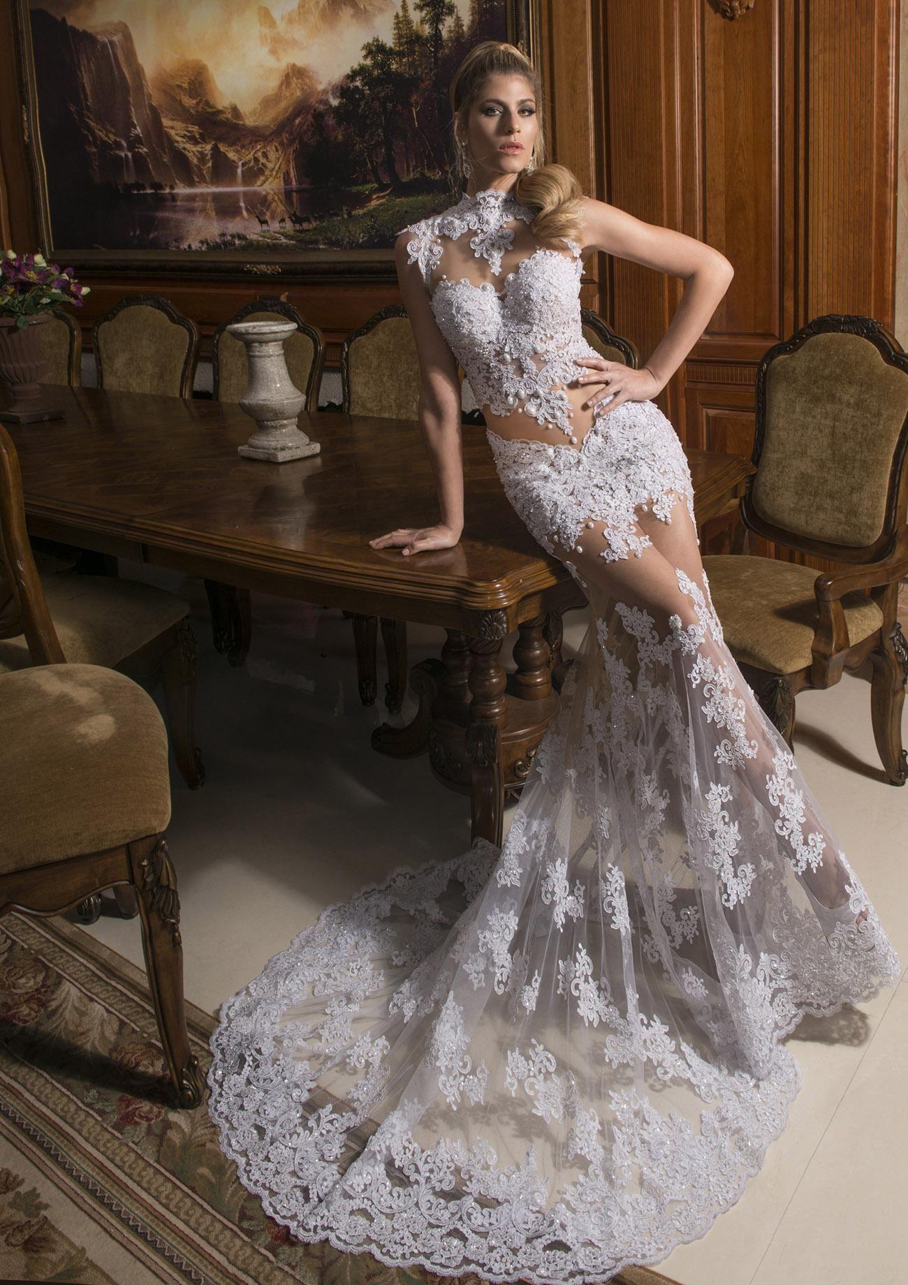 Lace Bustier 2 Piece Wedding Dress