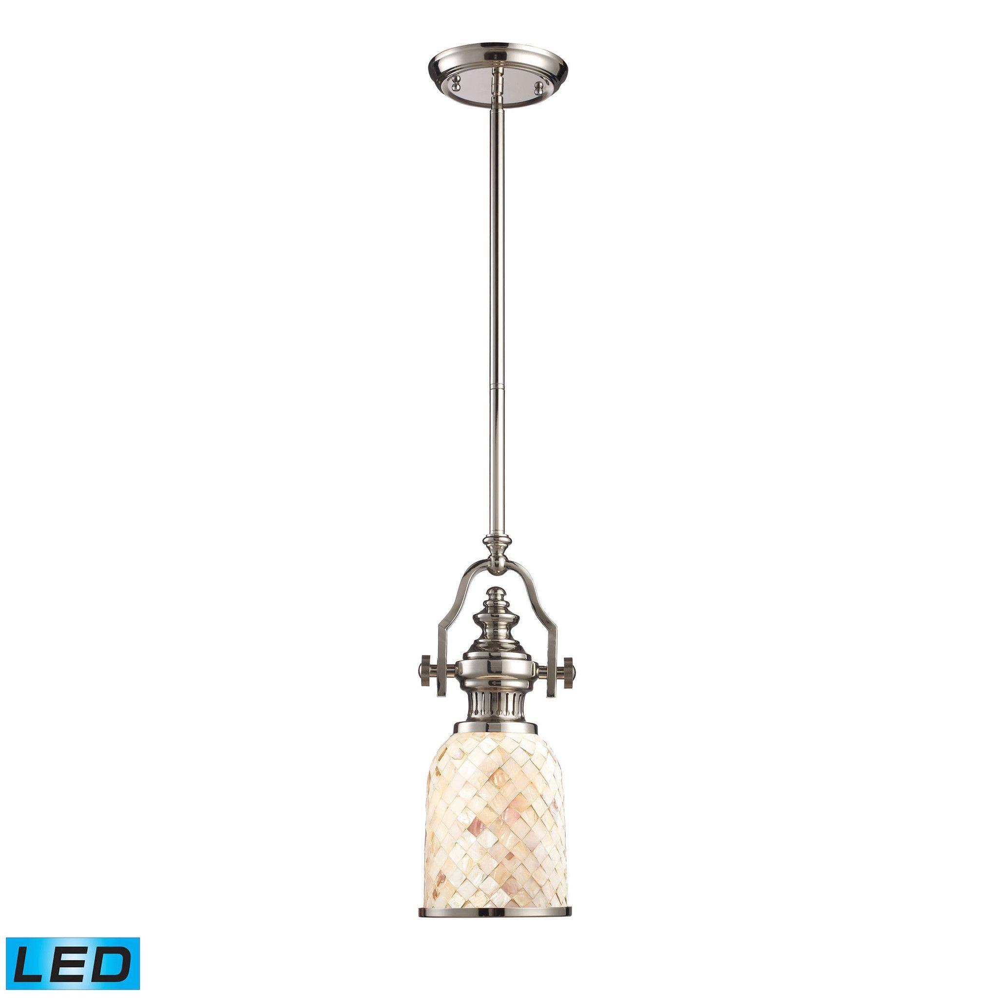 ELK Lighting 66412-1-LED Chadwick Collection Polished Nickel Finish