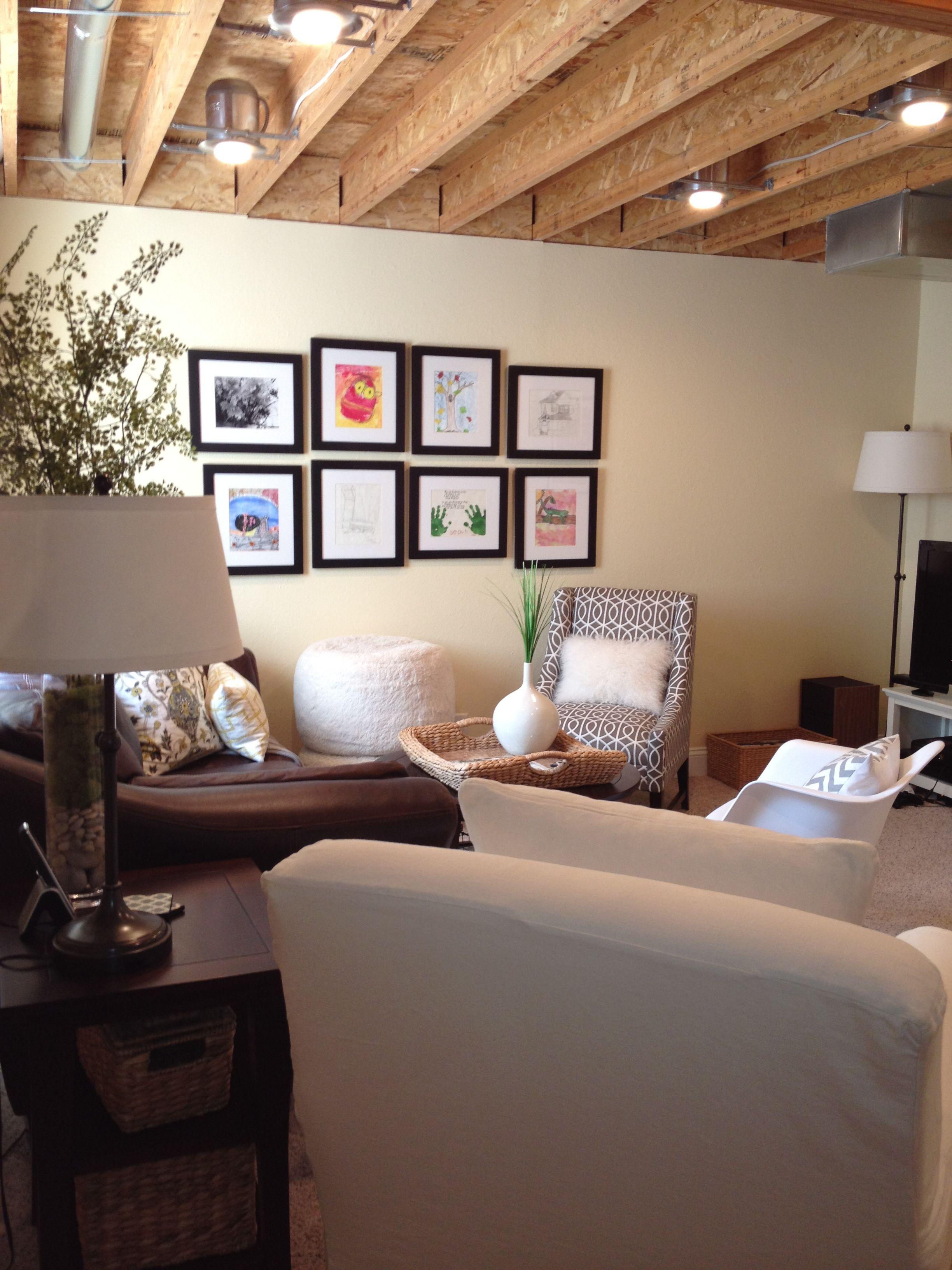 20 Amazing Unfinished Basement Ideas You Should Try Unfinished Basement Walls Low Ceiling Basement Basement Lighting