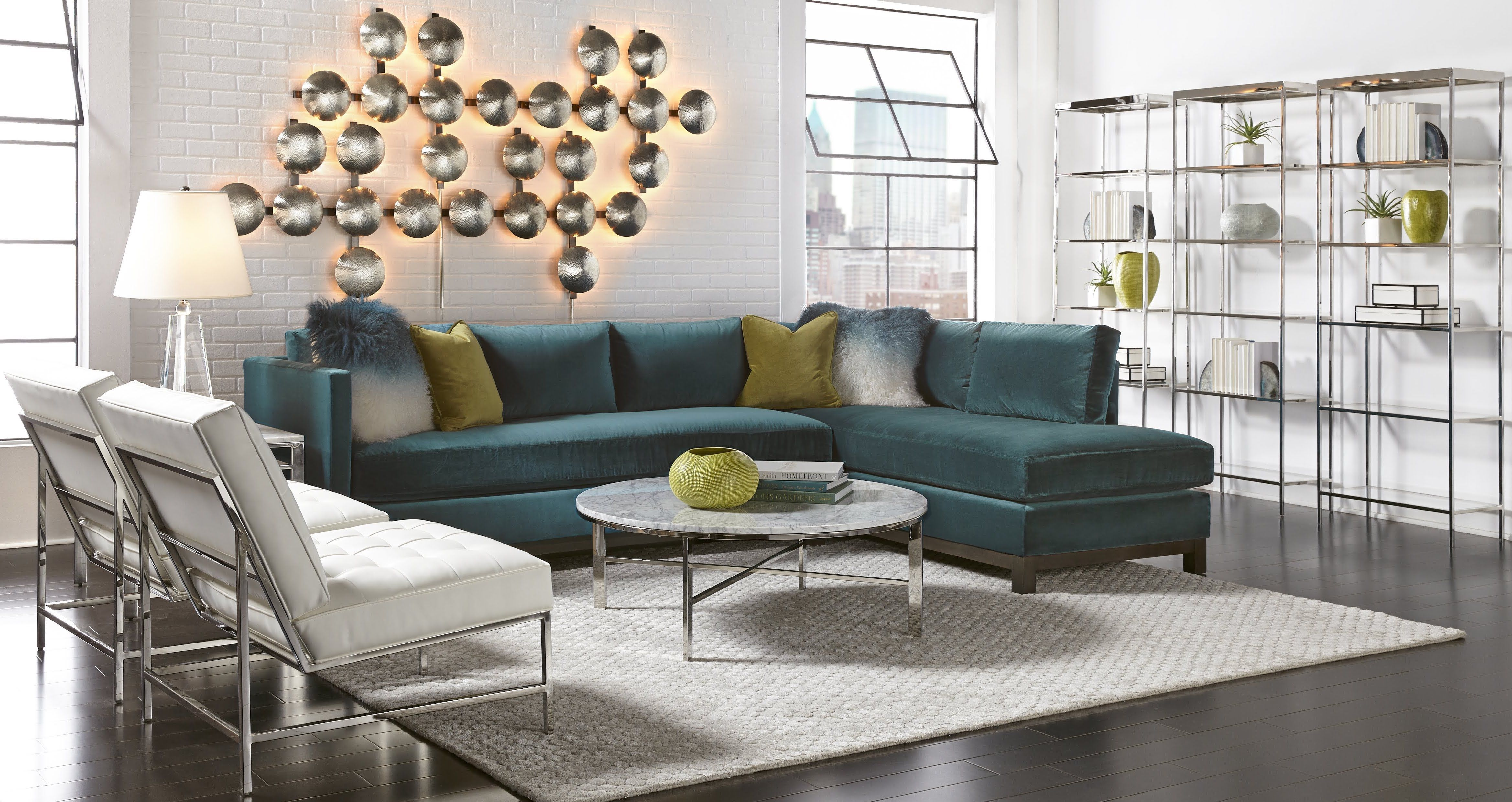Clifton Left Sectional Mitchell Gold Bob Williams Modern Sofa Sectional Living Dining Room Home [ 2479 x 4675 Pixel ]