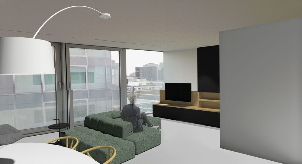 martijne interieur interior design for a new appartment with a stunning view in rotterdam