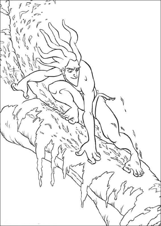 Kids-n-fun | Coloring page Tarzan Tarzan | A - אומניות שונות 2 ...