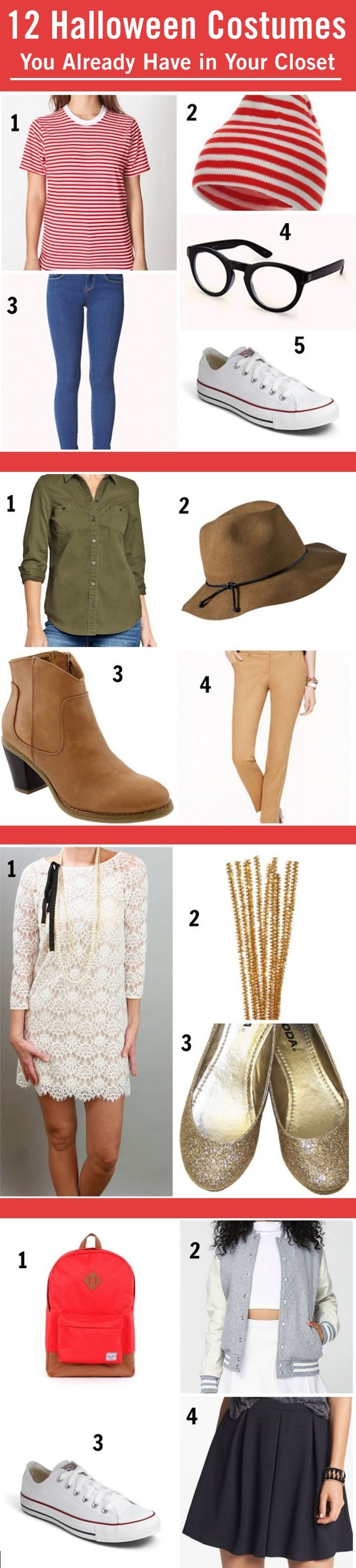 12 Halloween Costumes You Already Have in Your Closet | Easy diy ...