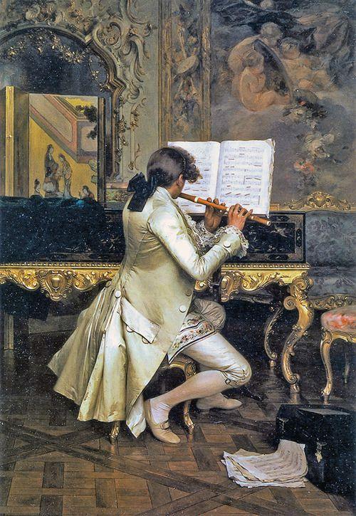 Baroque Musician Charles Bargue Musical Art Art