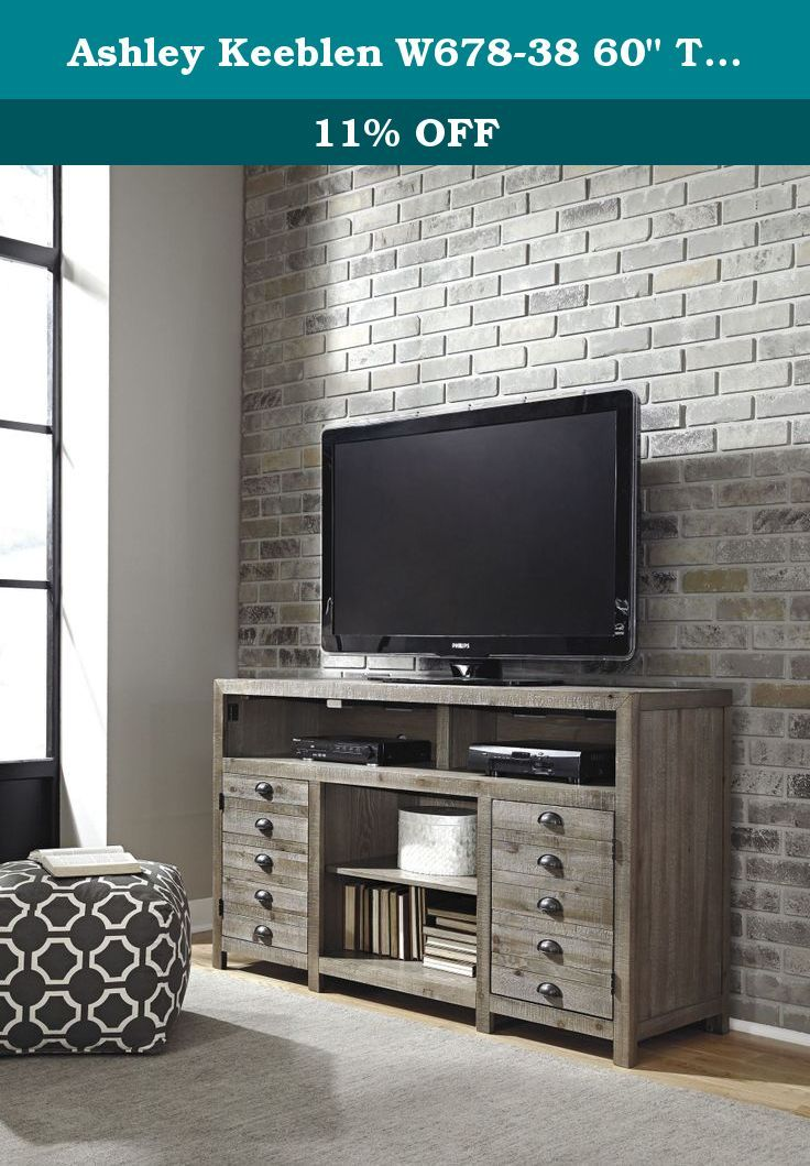 Ashley Keeblen W678 38 60 Tv Stand With Fireplace Option 2 Doors Adjustable Shelves And Top Compartment With Div Fireplace Tv Stand Ashley Furniture Furniture