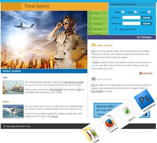 Website Templates Free Travel Tour Tourism Website Free Template  Travel And Tours