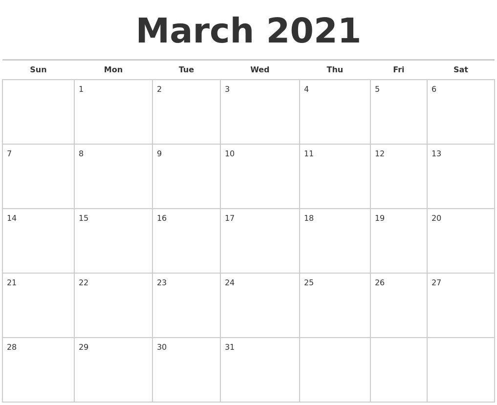 Blank Calendar 2021 March Allowed In Order To My Blog With This Moment I Ll Show You Concerning In 2020 Printable Calendar Design Print Calendar Calendar For April